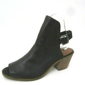 Lucky Brand Bray Black Leather Booties Heels 7